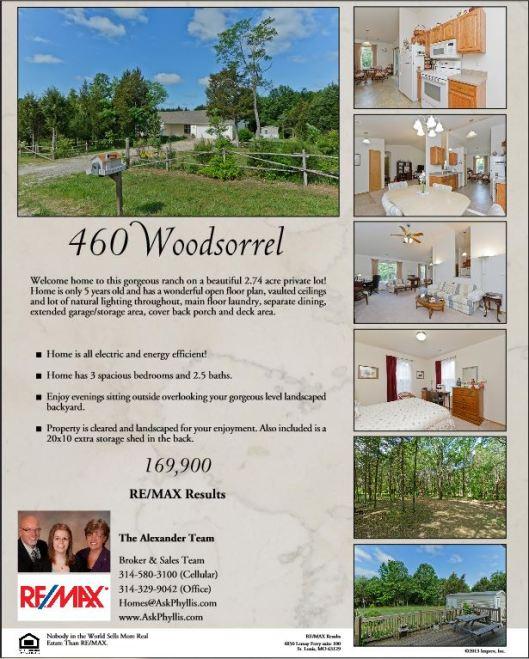 460 Woodsorrel, Hillsboro 63050